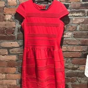 Anthropology Red Fit & Flair Dress size 8